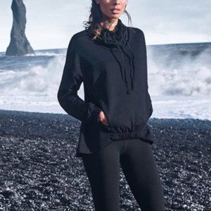 FABLETICS Black Europa Funnel Neck Sweatshirt